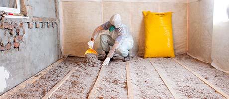 isoleren van een houten vloer Dilbeek